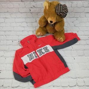 Boys Nike Rain Jacket with Hood Red Size 2T